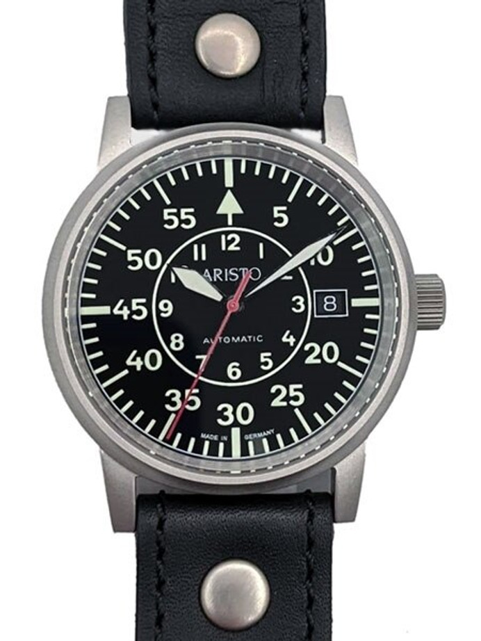 Aristo Type-B Dial Swiss Automatic Pilot's Watch with Sapphire Crystal #3H33N
