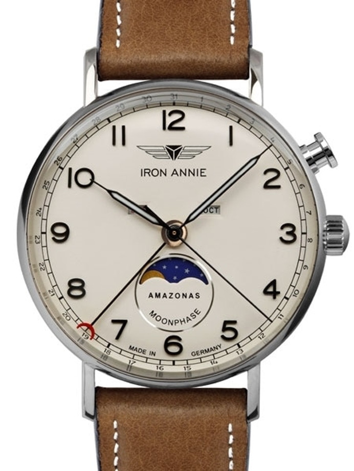 Iron Annie Amazonas Impression Calendar Watch with Moonphase #5976-5