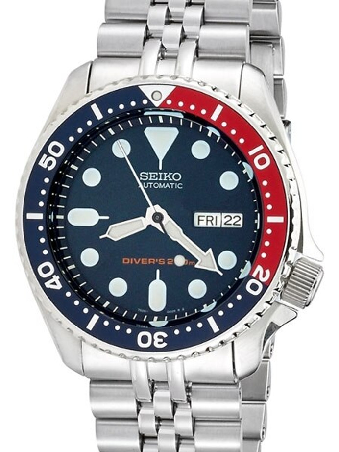 """Seiko SKX009 Divers Automatic Watch Super-J """"Louis"""" Edition with a Flat Sapphire Crystal #SKX009"""