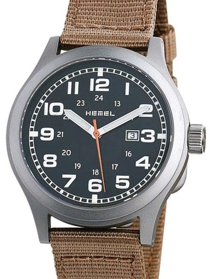 HEMEL Justice Swiss ETA Quartz Field Watch with Matte Black Dial and Sapphire Crystal #HM8