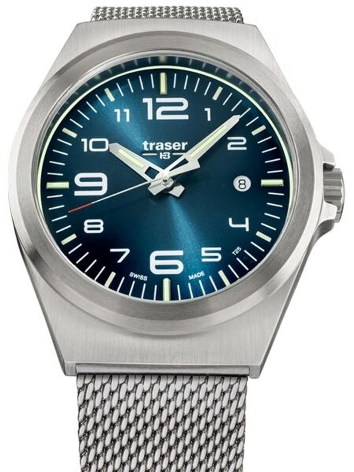 Traser P59 Essential M Blue Dial Watch w/Trigalight + SuperLuminova #108205