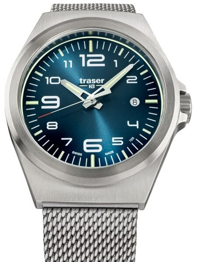 Traser P59 Essential M Blue Dial Watch w/Trigalight + SuperLuminova #108205