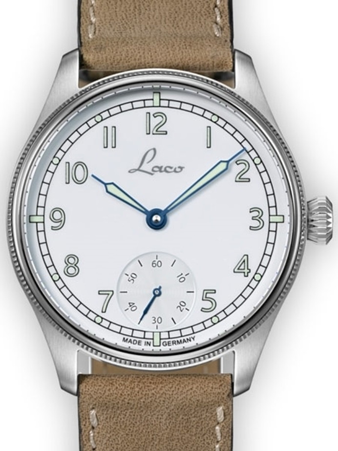 Laco Cuxhaven Manual Winding Navy Watch with AR Sapphire Crystal #862104