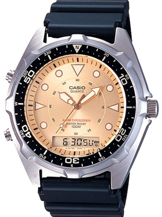 Casio Analog-Digital Dual Time Watch with Alarm and Stopwatch #AMW-320R-9AV