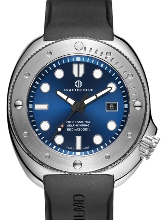 Crafter Blue Swiss Made 600-Meter Hyperion Ocean Diver with Swiss Automatic Movement  #HOSS002SB-R