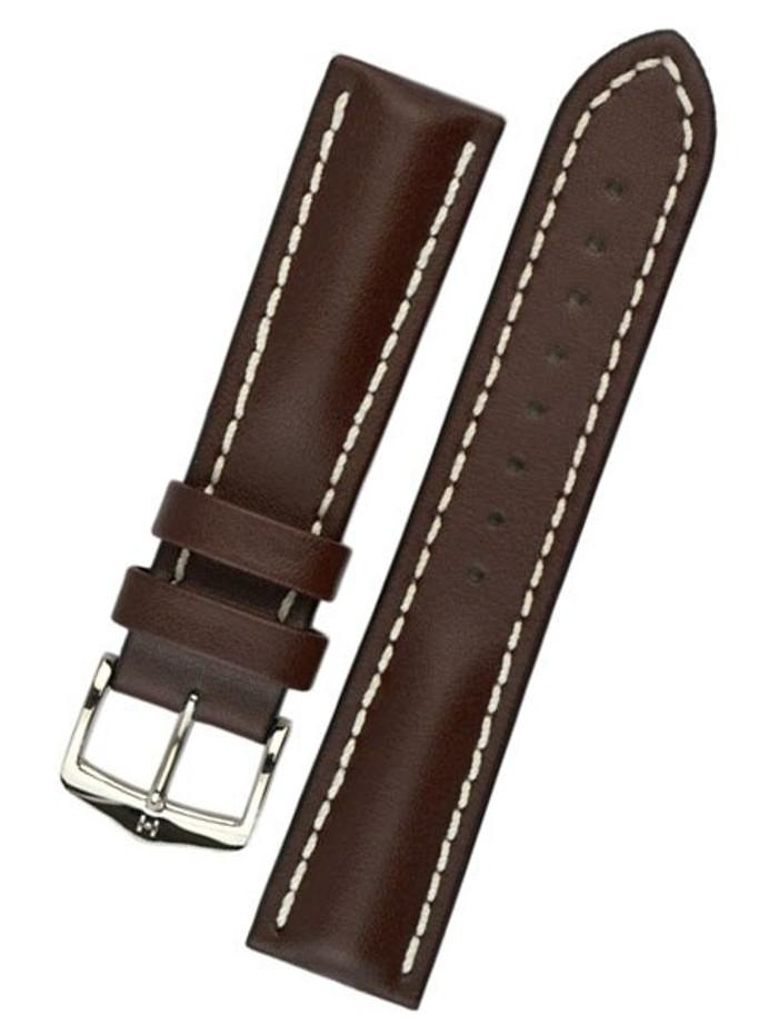 Hirsch Brown Heavy Calf Leather Watch Strap #014750-10
