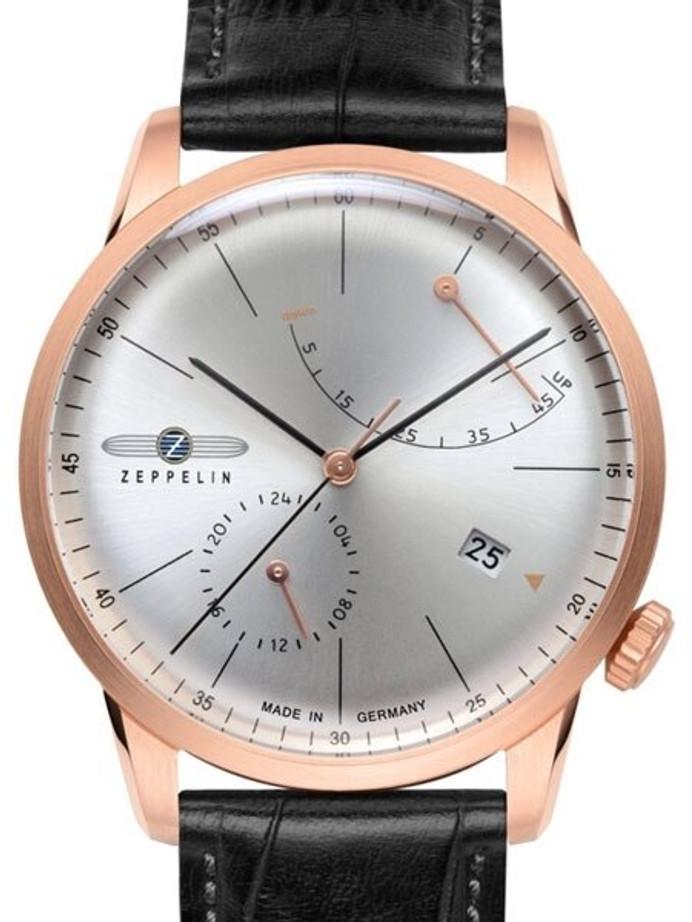 Graf Zeppelin LZ129 Flatline Automatic Watch with Power Reserve #7368-4