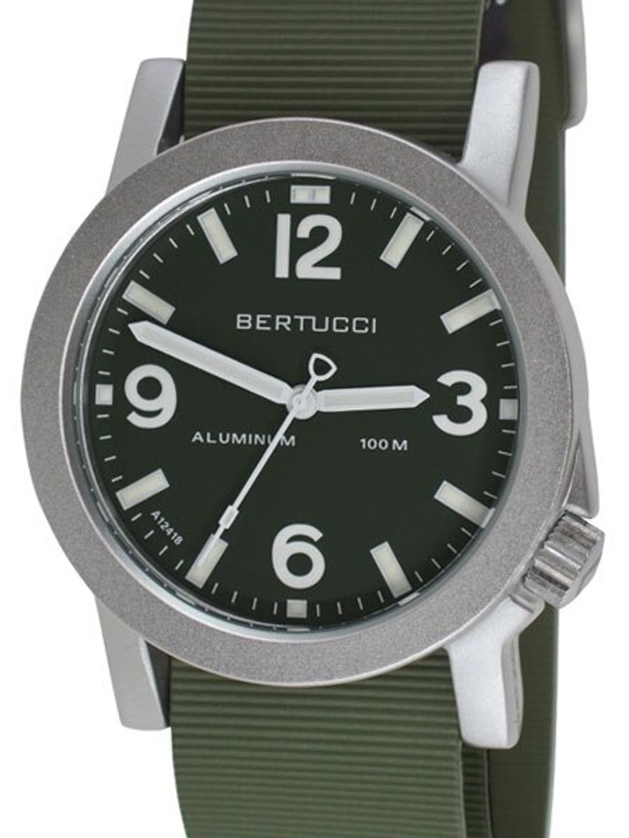 Bertucci Experior Anodized Aluminum Unibody Watch with Italian rubber strap #16509
