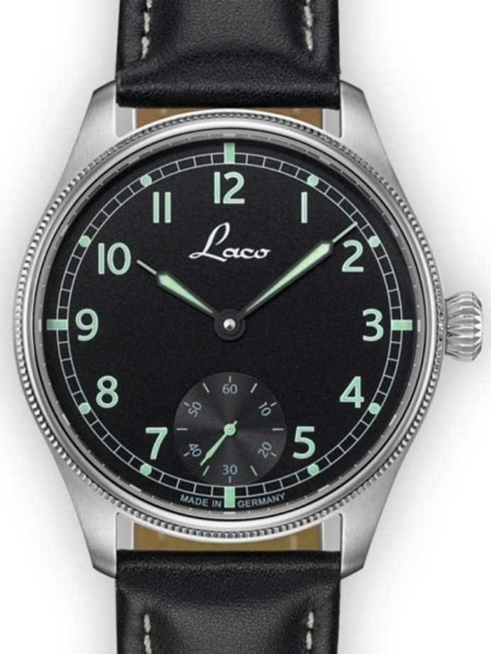 Laco Bremerhaven Manual Winding Navy Watch with AR Sapphire Crystal #862105