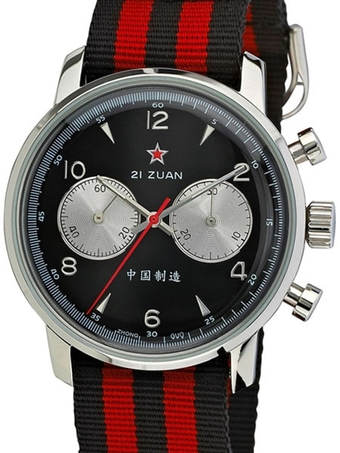 Seagull 1963 Hand Wind Mechanical Chronograph with Black Dial #6488-2901B