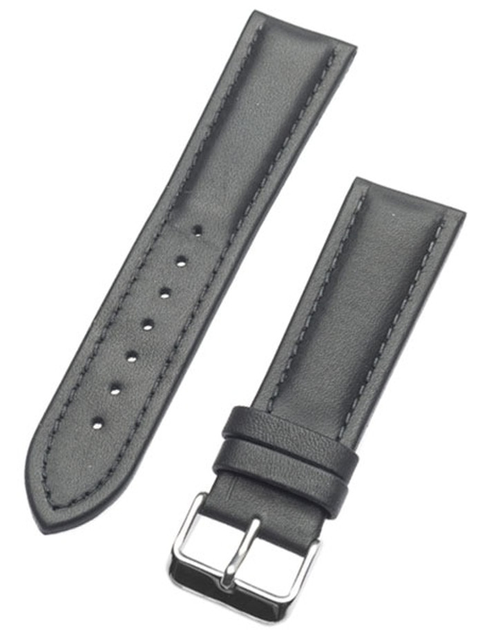 Calfskin Black Leather Strap with Heavy Padding #RB6-38330