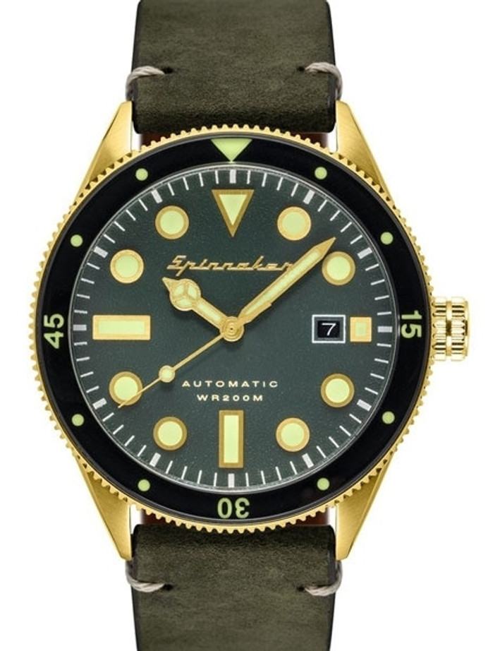 Spinnaker Cahill Automatic Dive Watch with 43mm Goldtone Case #SP-5033-05