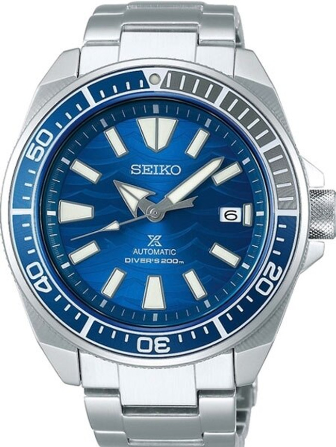 Seiko Save the Ocean Prospex Samurai Automatic Dive Watch with Stainless Steel Bracelet #SRPD23