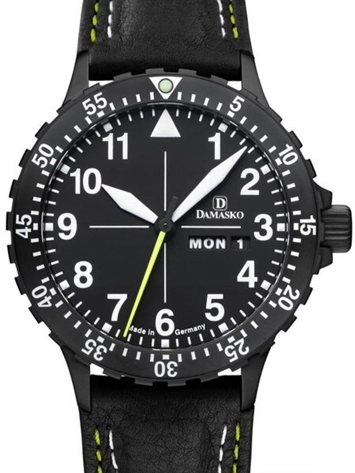 Damasko Swiss ETA Automatic with a 60-minute Bezel and Black Ion Stainless Steel Case #DA46BK