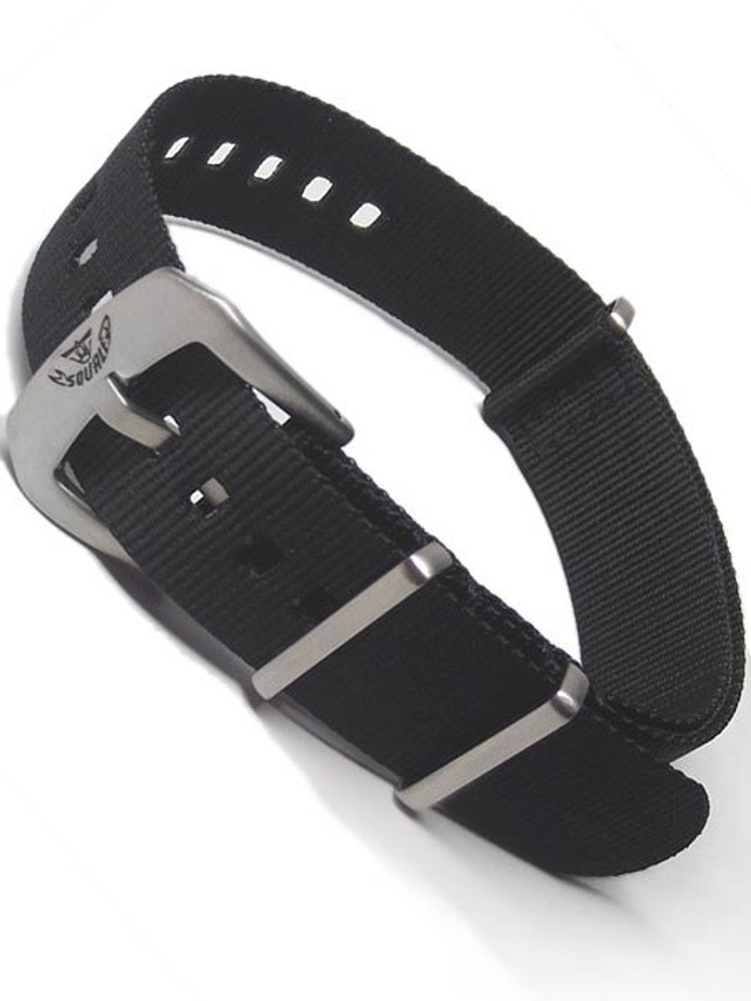Squale Matic OEM 22mm Black NATO Nylon Watch Strap #MATIC-NATO-Black