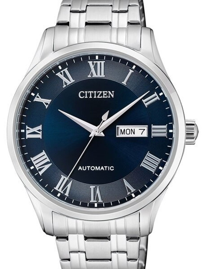 Citizen Automatic Blue Dial Watch with Stainless Steel Bracelet #NH8360-80L