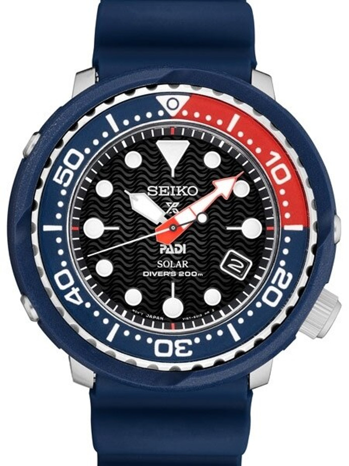 Seiko Prospex Special Edition PADI Dive Watch with Solar Movement #SNE499