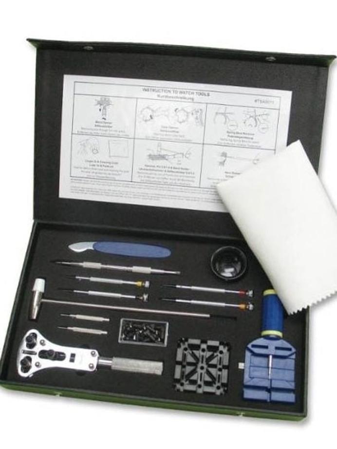 Semi-Pro Watch Tool Kit with Storage Box for Strap Changes, Bracelet Sizing #TSA9011
