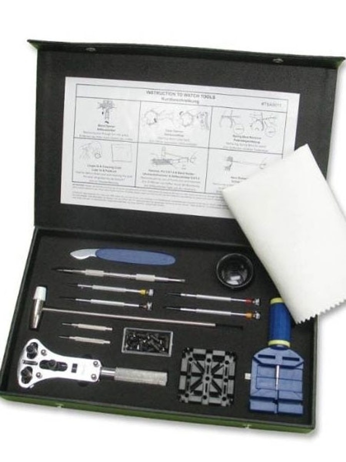 Semi-Pro Watch Tool Kit with Storage Box for Strap Changes, Bracelet Sizing #TSA9011
