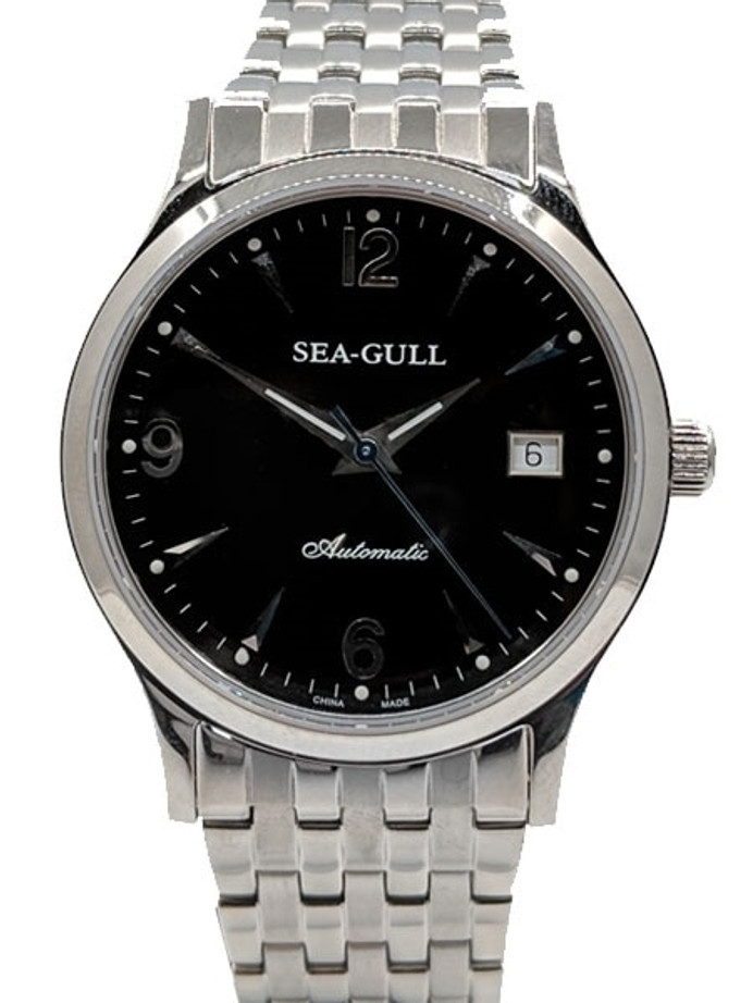 Sea-Gull 38mm Automatic Dress Watch with Bracelet and Sapphire Crystal #M198SB