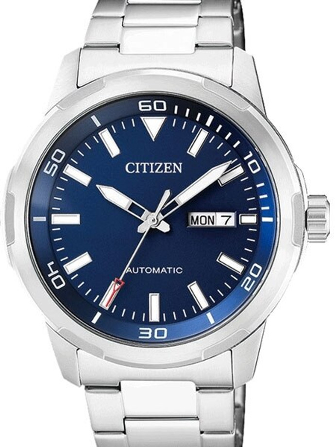 Citizen Automatic Blue Dial Watch with Stainless Steel Bracelet #NH8370-86L