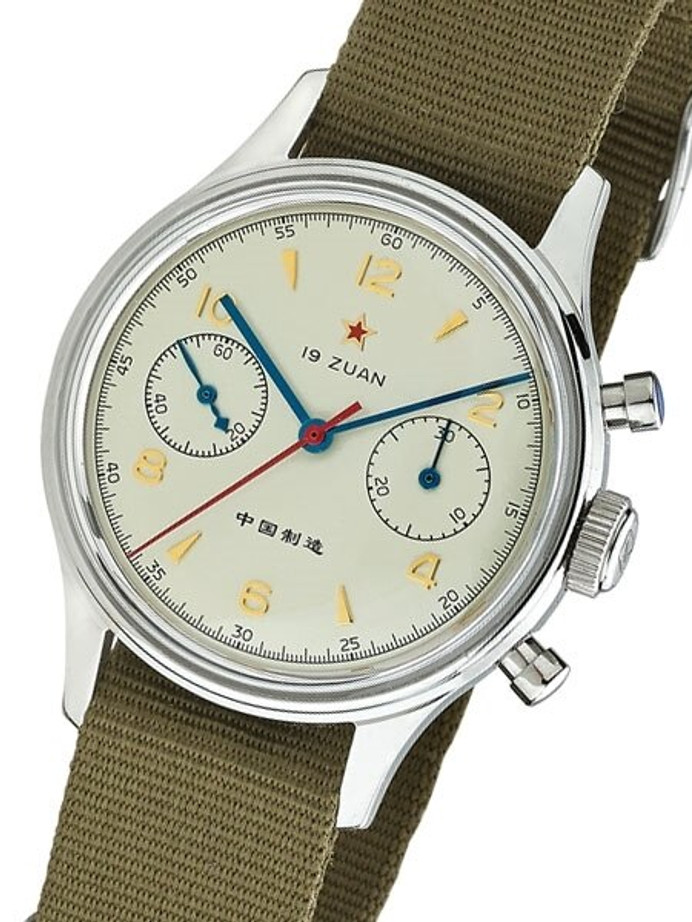 Scratch and Dent - Seagull 1963 Hand Wind Mechanical Chronograph with Acrylic Crystal #6345A-2901 9