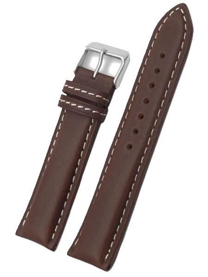 Toscana Dark Brown Heavy Padded Italian Calf Leather Watch Band HRV-27380