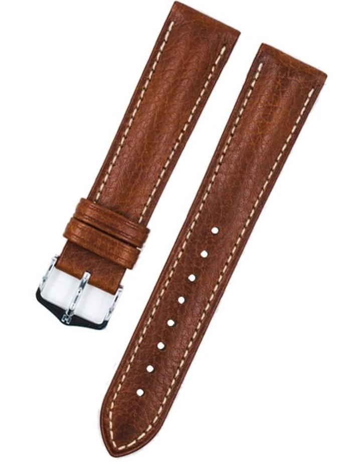 Hirsch Boston Golden Brown High Grain Leather Watch Strap #013020-70