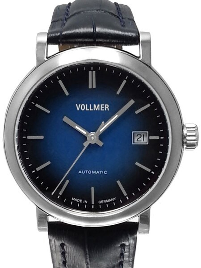 Vollmer Blue Focus Swiss ETA Automatic Watch with Ombr??-like Blue Dial  #4H171