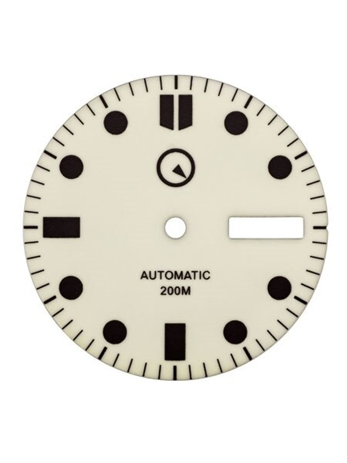 Fully Luminous Dial with SuperLuminova for Seiko 7S26, NH36 and 4R36 Movements #D07