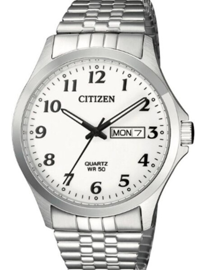 Citizen White Dial Quartz Watch with Stainless Steel Bracelet #BF5000-94A