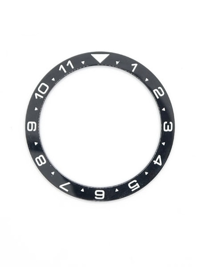 Black Ceramic Luminous (Dual-Time) Bezel Insert for Seiko SKX013 Watches #C09