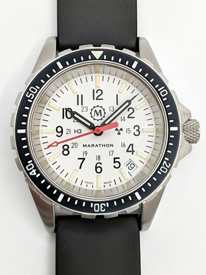 Marathon (Medium) Swiss Made, Arctic TSAR Quartz Military Divers Watch with Sapphire Crystal #WW194027-WD