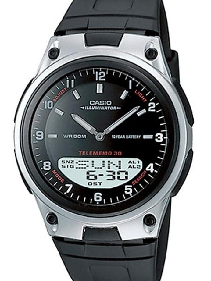 Casio Sports Analog-Digital Dual Time Watch with World Time #AW-80-1AV