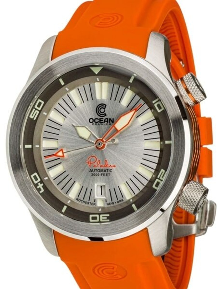 Ocean Crawler 600-Meter Paladino WaveMaker Swiss Automatic Dive Watch with Inner Rotating Bezel #1335