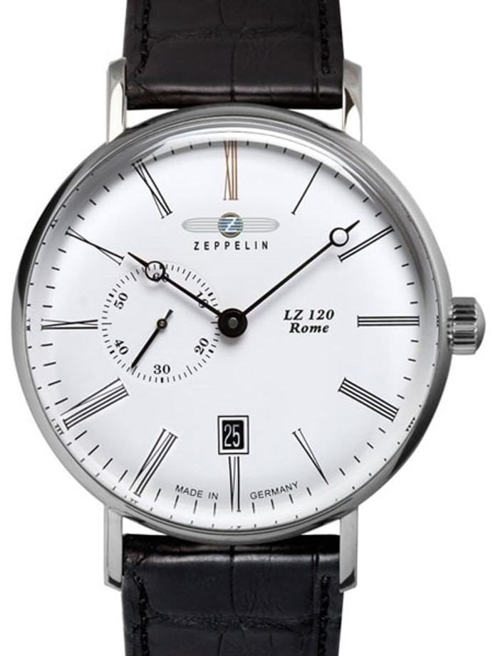 Graf Zeppelin LZ120 Rome Swiss Automatic Watch with Small Seconds and Dome Crystal #7104-1