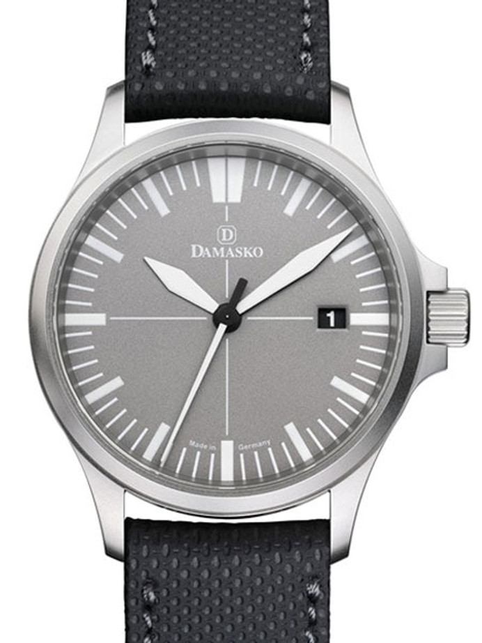 Damasko Swiss DS30 Automatic Watch with a 39mm Bead-Blasted Submarine Steel Case #DS30-Grey