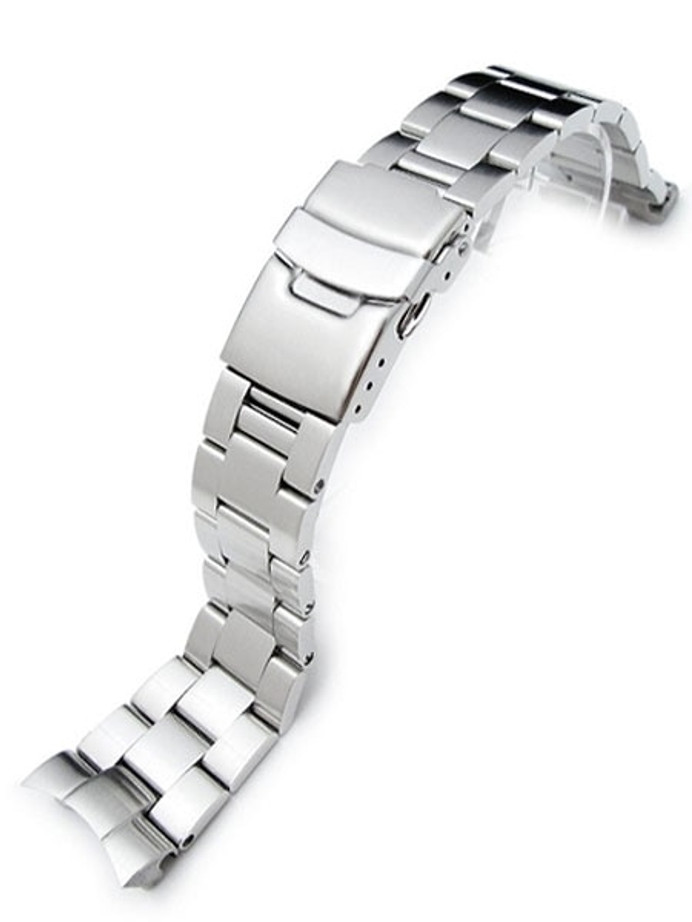 """Strapcode 22mm Super-O """"Boyer"""" watch band for SEIKO SKX007-009-011 Curved End #SS221803B019"""
