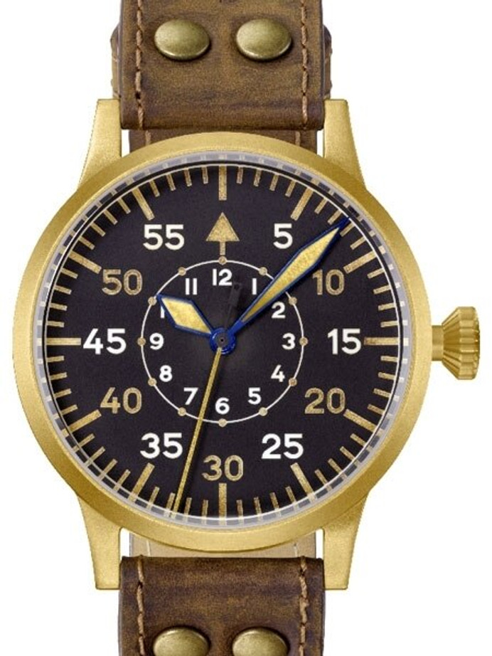 Laco Friedrichshafen Type B Dial Swiss Automatic Pilot Watch with Bronze Case #862086