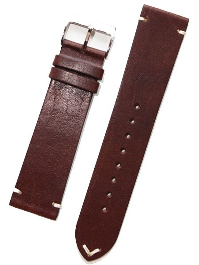 Horween Vintage Style Brown Calfskin Leather with Matching Lining and Hand-Stitching #INS-HOR02