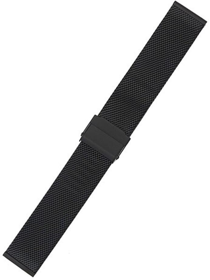 STAIB Polished Finish Milanaise Mesh Bracelet #ST-BK-2905-20805SBL (Straight End, 18mm)