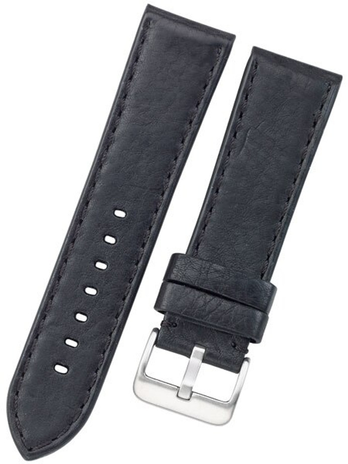 Toscana PANERAI Style Black Italian Leather Strap with Matching Stitching #LBV-98230M
