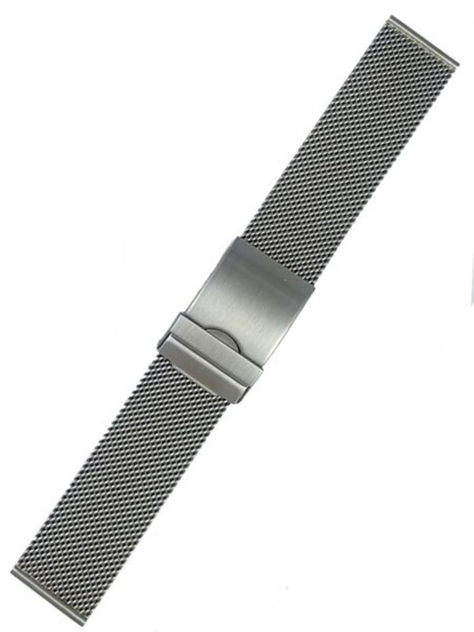Vollmer Brushed Finish Mesh Bracelet with Adjustable Deployant Clasp #17010H7 (20mm)
