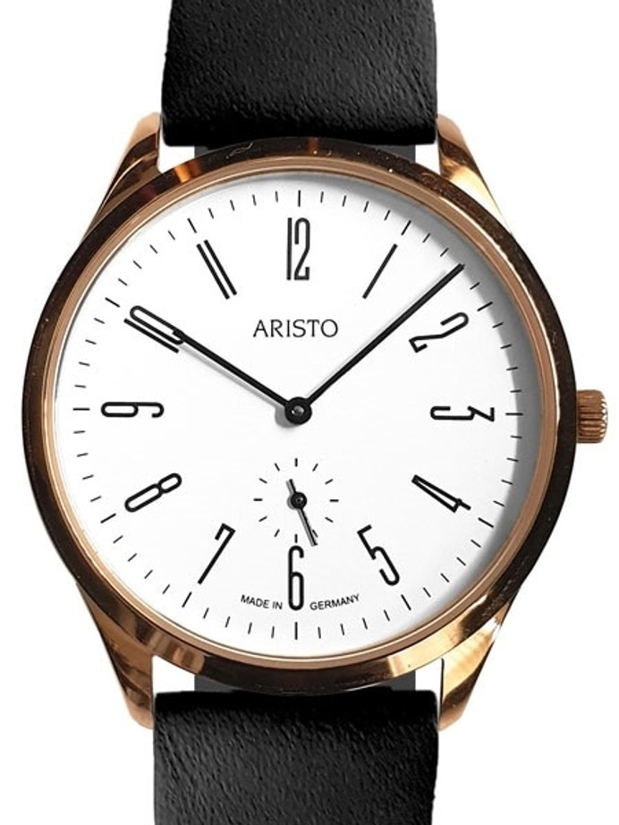 Aristo Bauhaus Style Watch with Swiss Ronda Quartz Movement #0H16