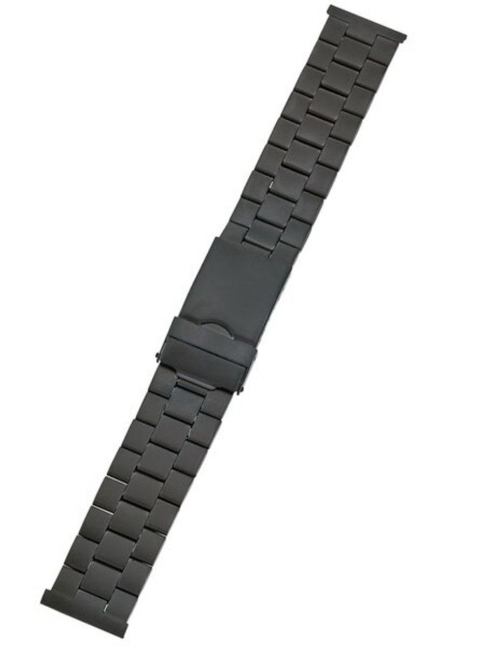 Vollmer Black PVD Bracelet with Deployant Clasp #03380H0 (20mm)