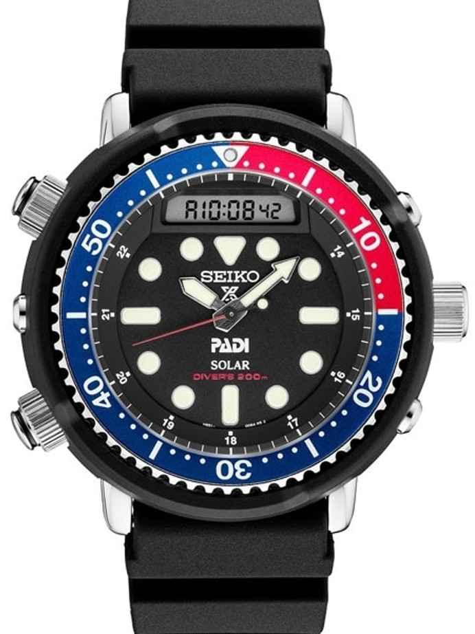 "Seiko ""Arnie"" Prospex PADI Dive Watch with Solar Movement and 47.5mm Case #SNJ027"