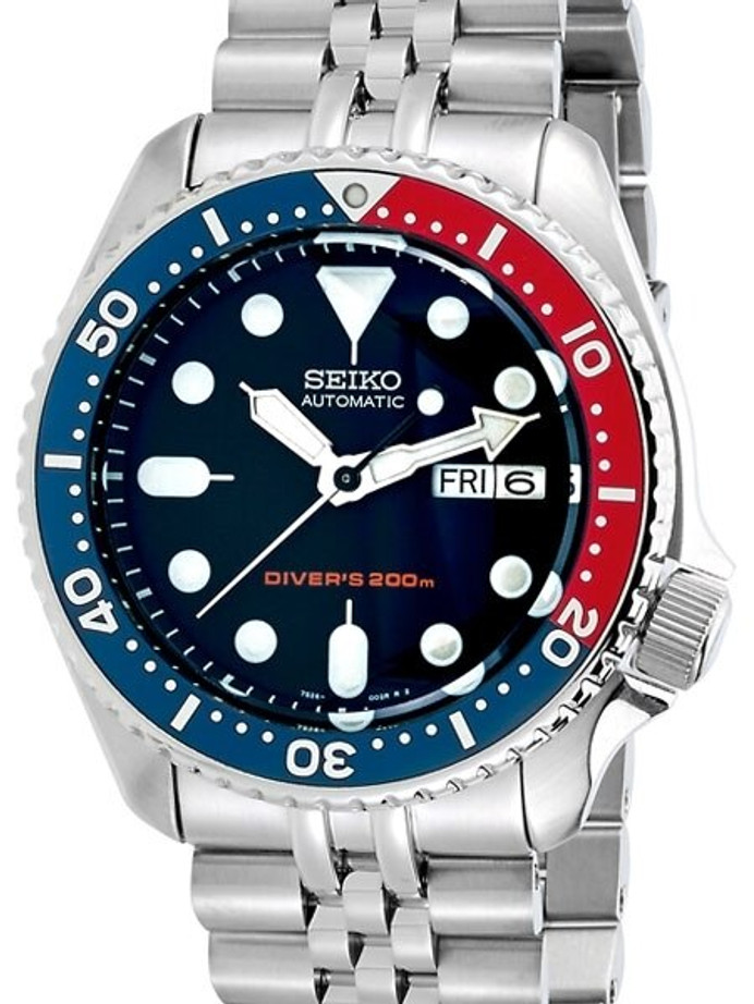 """Seiko SKX009 Divers Watch Strapcode Super-J """"Louis"""" Edition with a Double-Domed AR Sapphire Crystal #SKX009"""