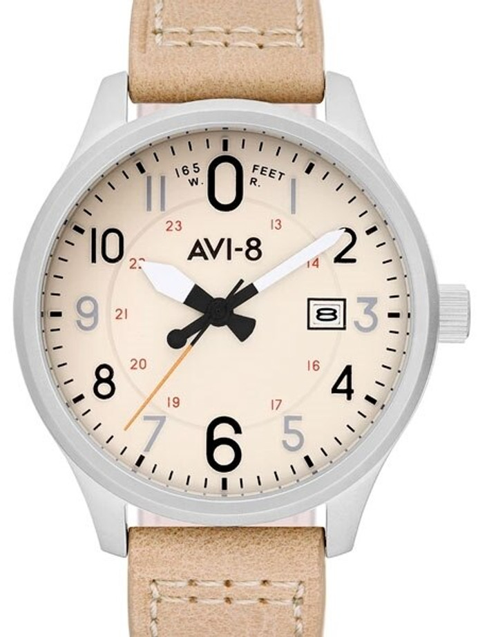 AVI-8 Hawker Hurricane Aviator Watch with Altimeter Style Dial #AV-4053-0H
