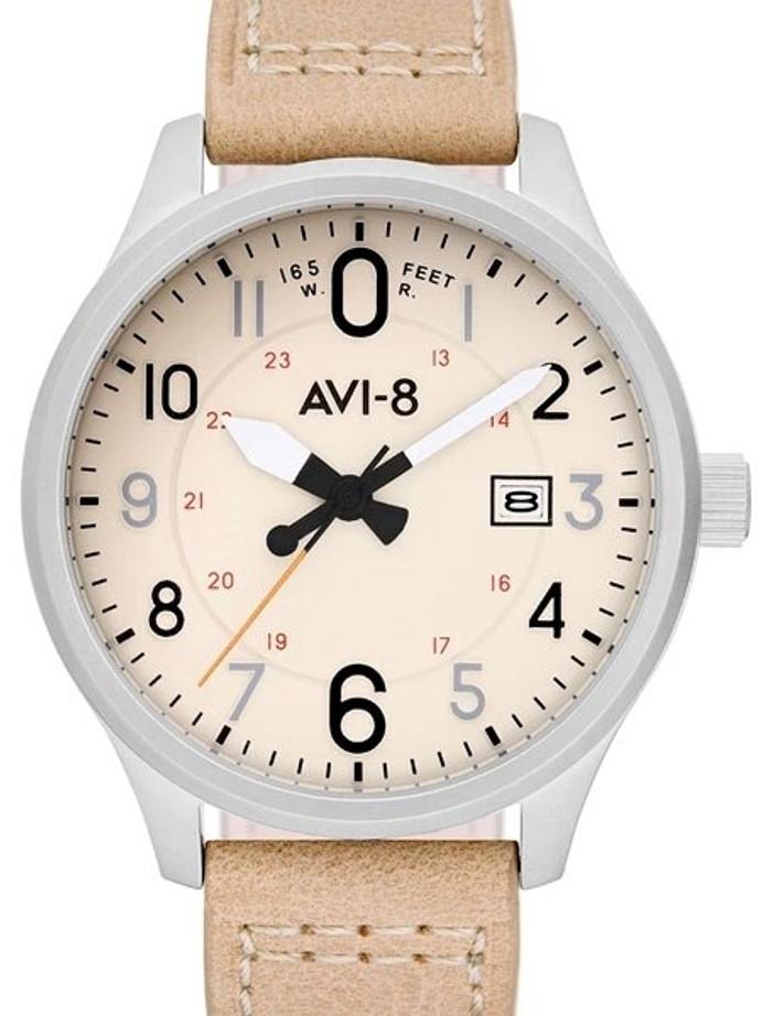 AVI-8 Hawker Hurricane Aviator Watch with Altimeter Style Dial #AV-4053-0H