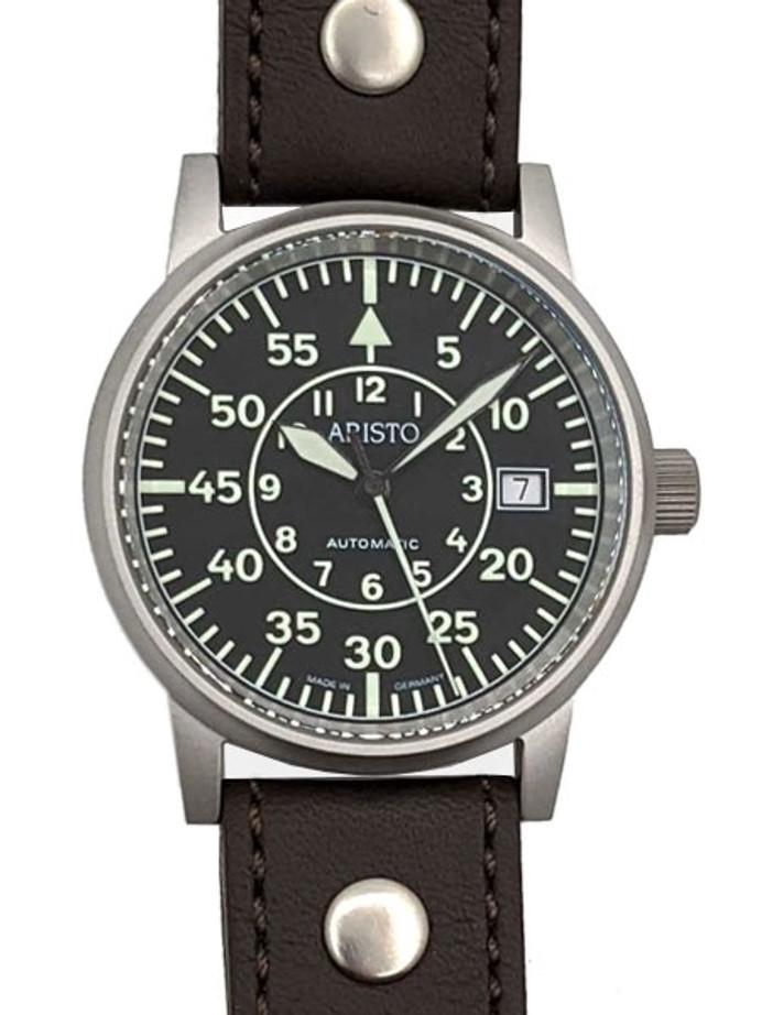 Aristo Type-B Dial Swiss Automatic Pilot's Watch, Sandblasted Case #3H32N
